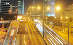 Hong Kong road at night Stock Image