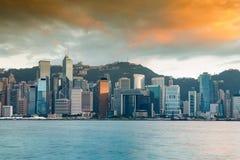 Hong Kong środkowy biznesowy w centrum denny przód Obraz Stock