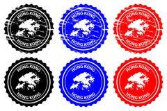 Hong Kong rubber stamp vector illustration