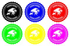 Hong Kong rubber stamp stock illustration