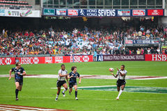 Hong Kong Rugby Sevens 2012. An annual event of sports, carnival and fun hosted in Hong Kong, the Hong Kong Rugby Sevens where international rugby teams compete royalty free stock image