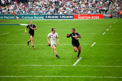 Hong Kong Rugby Sevens 2012. An annual event of sports, carnival and fun hosted in Hong Kong, the Hong Kong Rugby Sevens where international rugby teams compete stock images
