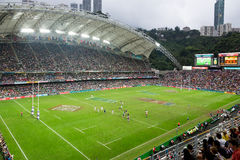 Hong Kong Rugby Sevens 2014 Images stock