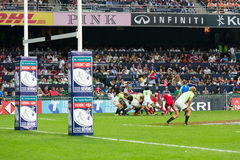 Hong Kong Rugby Sevens 2014 stock afbeelding