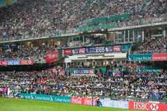 Hong Kong Rugby Sevens 2014 Stock Images