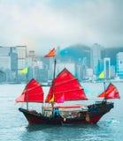 Hong Kong sławna żaglówka Zdjęcie Royalty Free