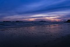 Hong Kong`s beach in sunset. HongKong famous location of waiting for the sunset Royalty Free Stock Image