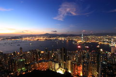 Hong Kong's Magic Hour Royalty Free Stock Photo