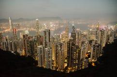 Hong Kong ` s ptasiego oka widok zdjęcie stock