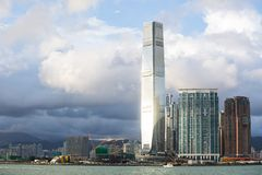Hong-Kong S A r , China - 24 de septiembre de 2017: ICC - International Fotografía de archivo