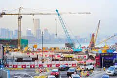 Construction site in HK Stock Photography
