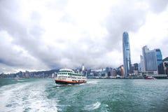 Hong Kong S a r , la Cina - 24 settembre 2017: Nave del traghetto di Xin Guo Immagini Stock
