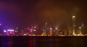 Hong Kong's Symphony of Light Stock Photography