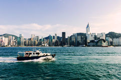Hong kong s victoria harbour Royalty Free Stock Photography