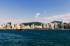 Hong kong s victoria harbour Stock Photo