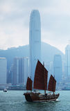 Hong Kong and sailing ship Royalty Free Stock Photography
