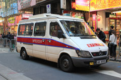 Hong Kong samochód policyjny Obraz Royalty Free
