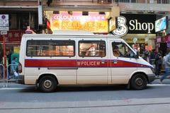 Hong Kong samochód policyjny Obrazy Royalty Free