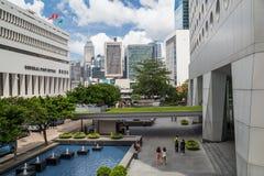 Hong Kong, SAR China - circa Juli 2015: De algemene Postkantoor Bouw van Hong Kong Stock Foto's