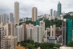 Hong Kong, SAR China - circa July 2015: Dense high rise buildings of Hong  Kong Stock Photography