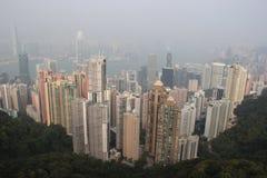 Hong Kong Scenery from The Peak. Hong Kong Business District Scenery from The Peak Royalty Free Stock Photography