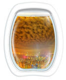 Hong Kong Scenic Flight Arkivfoto