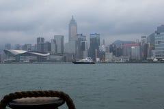 Hong Kong schronienie i miasto obraz stock