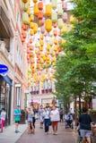 Hong Kong - September 22, 2016 :beautiful chinese lantern for de Stock Images
