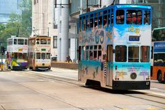 Double decker trams. Stock Photography