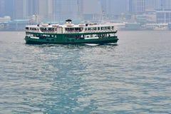 HONG KONG - 2 september, 2017: Het fonkelen Sterveerboot het varen acro Royalty-vrije Stock Afbeelding