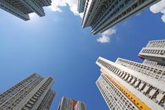 Hong Kong a serré des résidences Images stock