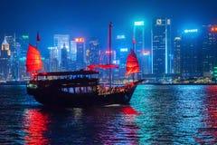 HONG KONG - 23 settembre 2018: La navigazione di Aqua Luna in Hong Ko fotografia stock