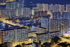 Hong Kong Sha Tin at Night Royalty Free Stock Images