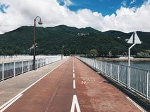 Hong Kong Shatin bridge. Take the photo in Hong Kong Shatin on 8,June,2017 Stock Photography