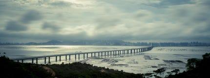 Hong Kong – Shenzhen västra korridor Arkivbild