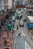 Hong Kong shoppar staden för signagetrafikfolkmassan Arkivfoton