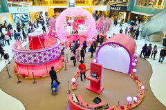 Hong Kong shopping center interior Stock Images
