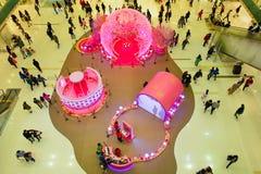Hong Kong shopping center interior Royalty Free Stock Images