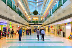 Hong Kong shopping center interior Stock Images