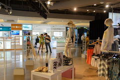 Hong Kong shopping mall interior. HONG KONG - JUNE 01, 2015: Hong Kong shopping mall interior. Hong Kong shopping malls are some of the biggest and most Stock Image