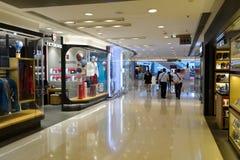 Hong Kong shopping mall interior. HONG KONG - MAY 05, 2015: Hong Kong shopping mall interior. Hong Kong shopping malls are some of the biggest and most Stock Photos