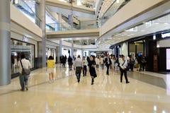 Hong Kong shopping mall interior. HONG KONG - MAY 05, 2015: Hong Kong shopping mall interior. Hong Kong shopping malls are some of the biggest and most Royalty Free Stock Image