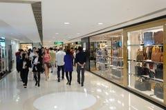 Hong Kong shopping mall interior. HONG KONG - MAY 06, 2015: Hong Kong shopping mall interior. Hong Kong shopping malls are some of the biggest and most Royalty Free Stock Photography