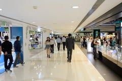 Hong Kong shopping mall interior. HONG KONG - MAY 06, 2015: Hong Kong shopping mall interior. Hong Kong shopping malls are some of the biggest and most Stock Photos