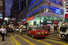 Hong Kong shopping street Stock Images