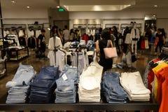 Hong Kong shoppinggalleriainre Arkivfoto
