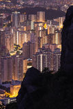 HONG KONG, SIERPIEŃ - 01, 2015: Budynku mieszkania wzór Hong Kon Obraz Royalty Free