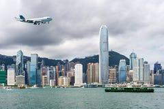 Hong Kong sikt av Victoria Harbor Royaltyfria Bilder
