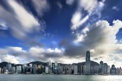 Hong Kong sikt av Victoria Harbor Royaltyfri Foto