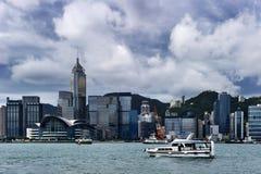 Hong Kong sikt av Victoria Harbor Arkivbilder